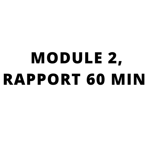 High performance sales training, Go beyond what you know: MODULE 2, RAPPORT 60 MIN
