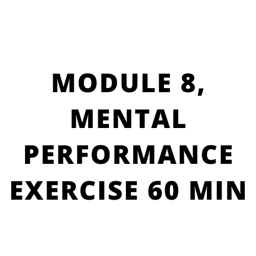 High performance sales training, Go beyond what you know: MODULE 8, MENTAL PERFORMANCE EXERCISE 60 MIN